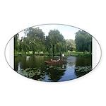 Cambridge Painting Oval Sticker