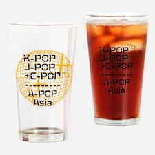 Unique J k Drinking Glass
