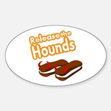 Release the Hounds Sticker (Oval)