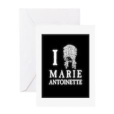 I Love (Wig) Marie Antoinette Greeting Card