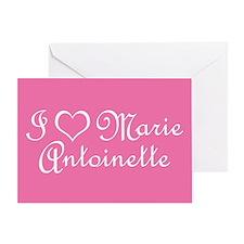 I Love Marie Antoinette Pink Greeting Card
