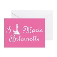 I Guillotine Marie Antoinette Pink Greeting Card