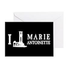 I Love (Guillotine) Marie Antoinette Greeting Card
