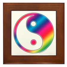 Rainbow Yin Yang Framed Tile