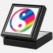 Rainbow Yin Yang Keepsake Box