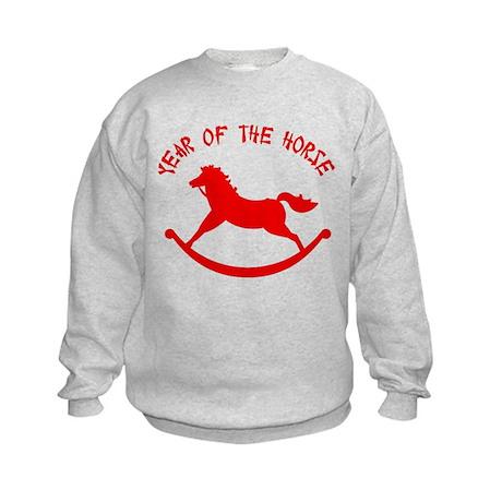 Year Of The Horse Kids Sweatshirt
