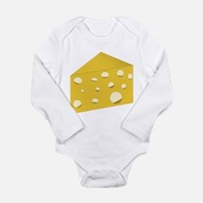 Swiss Cheese Long Sleeve Infant Bodysuit