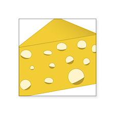 "Swiss Cheese Square Sticker 3"" x 3"""