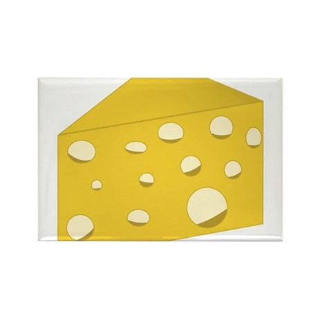 Swiss Cheese Rectangle Magnet