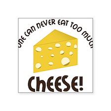 """Cheese Square Sticker 3"""" x 3"""""""