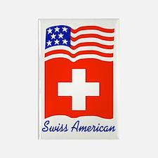 Swiss American Rectangle Magnet