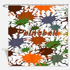 Fun Paintball Splatter Shower Curtain