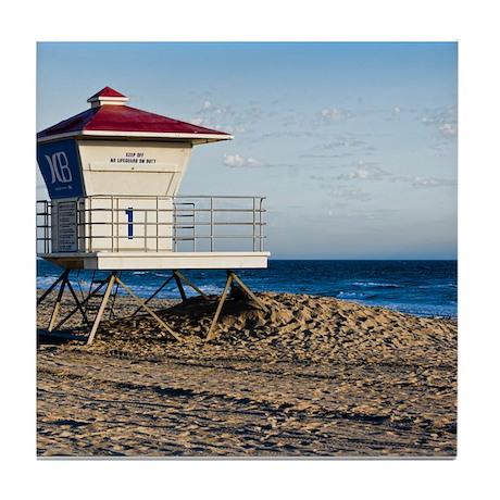 Scenic HDR Huntington Beach Lifeguard Tower Tile C