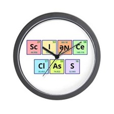Science Class Wall Clock