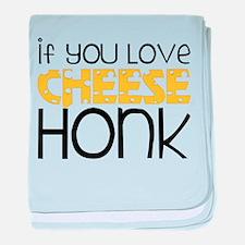 Love Cheese baby blanket