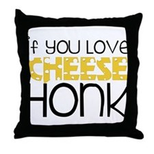 Love Cheese Throw Pillow