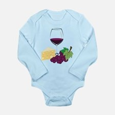 Wine And Cheese Long Sleeve Infant Bodysuit