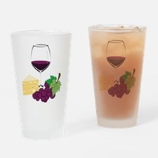 Wine And Cheese Drinking Glass