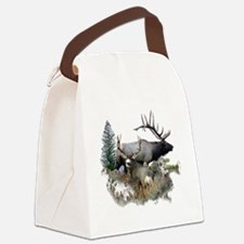 Buck deer bull elk Canvas Lunch Bag