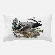 Buck deer bull elk Pillow Case