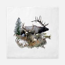 Buck deer bull elk Queen Duvet