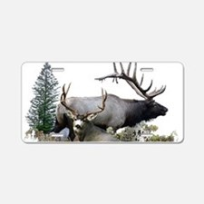 Buck deer bull elk Aluminum License Plate