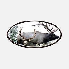Buck deer bull elk Patches