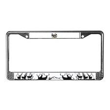 Buck deer bull elk License Plate Frame