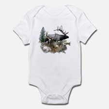 Buck deer bull elk Infant Bodysuit