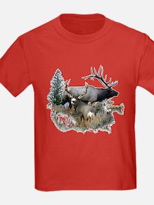 Buck deer bull elk T