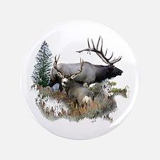 "Buck deer bull elk 3.5"" Button"