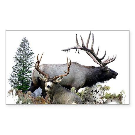Buck deer bull elk Sticker (Rectangle)