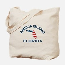 Amelia Island - Map Design. Tote Bag