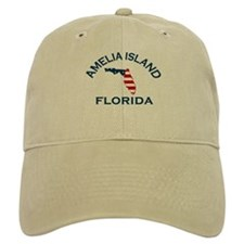 Amelia Island - Map Design. Baseball Cap
