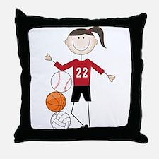 Female Athlete Throw Pillow