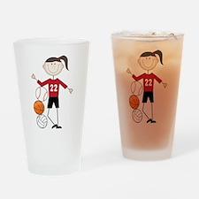 Female Athlete Drinking Glass