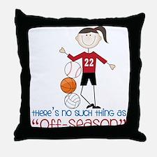 Off Season Throw Pillow