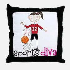 Sports Diva Throw Pillow