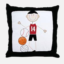 Male Athlete Throw Pillow
