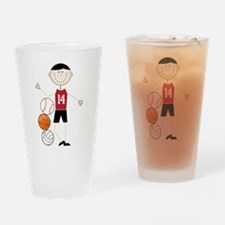 Male Athlete Drinking Glass