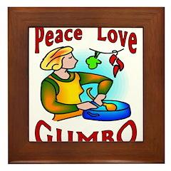 Peace Love Gumbo Framed Tile