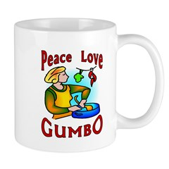 Peace Love Gumbo Mug