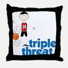 Triple Threat Throw Pillow