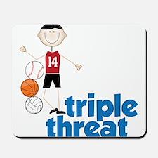 Triple Threat Mousepad