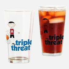 Triple Threat Drinking Glass
