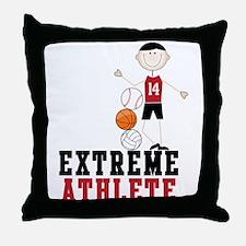 Extreme Athlete Throw Pillow