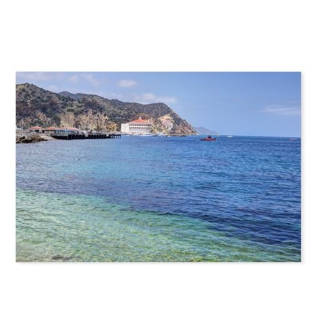 Avalon Harbor Catalina Island Postcards (Package o