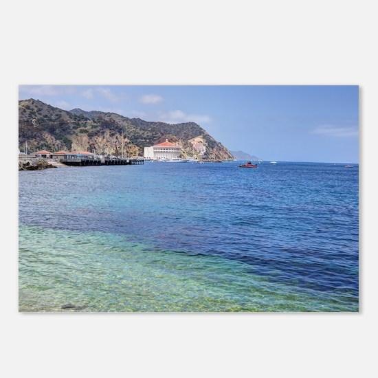 Avalon Harbor Catalina Island Postcards (Package o