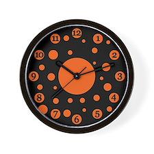 Halloween Polka Dots Clock