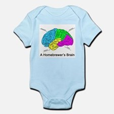 A Homebrewer's Brain Infant Bodysuit